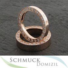MelanO elegance Ring 3 mm breit, Edelstahl Rotgold vergoldet  + Zirkonias Gr. 52