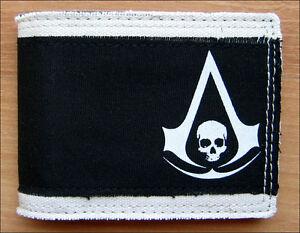 Assassins Creed 4 IV Black Flag Denim Bi-Fold Bifold Mens Boys Wallet LICENSED