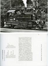 Foto 99 6001-4 Selketalbahn Schmalspurbahn Rückseite Beschreibung DDR (*6320)