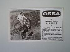 advertising Pubblicità 1973 MOTO OSSA TRIAL e GIOVANNI TOSCO