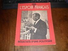 ETAT FRANCAIS/L'ESPOIR FRANCAIS N°SPECIAL/LAVAL RESULTATS 1942 Cachet