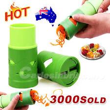 AU Fruit Vegetable Processor Veggie Twister Cutter Container Slicer Kitchen Tool