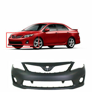 Primed Front Bumper Cover for 2011-2013 Toyota Corolla S XRS TO1000373