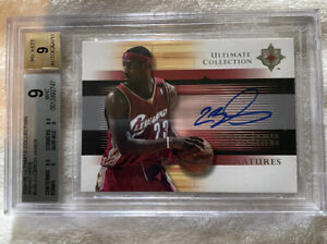 2005-2006 Ultimate Collection Lebron James Ultimate Signatures BGS GRADED 9!!