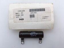 LN25J250 Ohmite, 25 Watt 250 Ohm 5%, Wirewound (Vitreous Enamel) Resistor