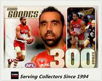 2012 Select AFL Champions 300 Game Case Card CC42: Adam Goodes ( Sydney)