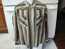 Ely ? The Plains by E & W western cowboy country shirt Retro Vintage Xl RaRe