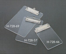 6 x 9 Clear Acrylic handmade Clipboard at work or school for 6 x 9 inch papers
