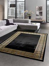 Carpet living room with meander border in black gold
