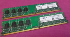 Mémoires RAM Crucial pour ordinateur, 1 Go par module avec 2 modules