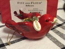 New ListingFitz And Floyd Bellacara Red Bird Christmas Ornament Dated 2008