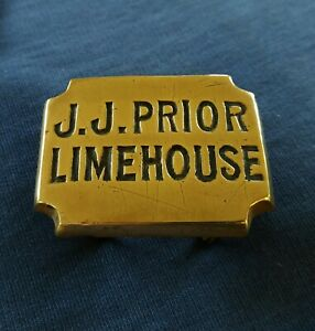 ANTIQUE HORSE BRASS HARNESS DECORATION - J.J. PRIOR LIMEHOUSE