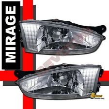 97-02 Mitsubishi Mirage 2Dr Coupe Chrome Headlights Lamps RH + LH