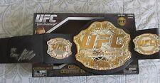 GEORGES ST PIERRE SIGNED UFC JAKKS CHAMPIONSHIP BELT DC/COA UFC CHAMP (GEORGE)