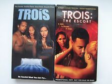 Trois VHS Erotic Thriller Video Tape Lot