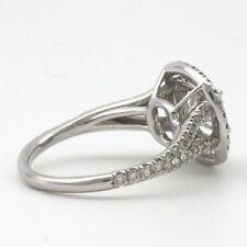 Cushion White Gold VS1 18k Diamond Engagement Rings