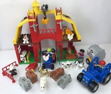 LEGO DUPLO FARM SET BUILDING TRACTOR ANIMALS FIGURES COW PIG SHEEP DOG BUNDLE