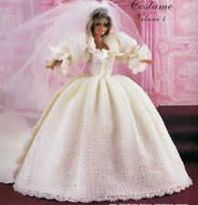 CROCHET PATTERN barbie sindy Fashion poupée robe de mariage robe de mariée train (735)