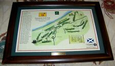 Vintage Framed PRESTWICK GOLF CLUB SCOTLAND Course Scorecard Map Art Print Photo