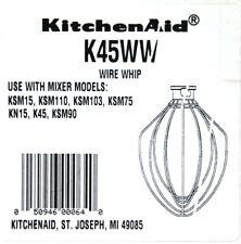 KitchenAid K45WW Electric Mixer Wire Whip Attachment Whisk