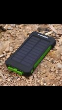 New Solar powered 10000mAh portable phone charger outdoors camping