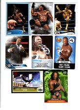 Booker T Wrestling Lot 8 Different Trading Cards 1 Inserts +Poster WWE TNA BT-B1