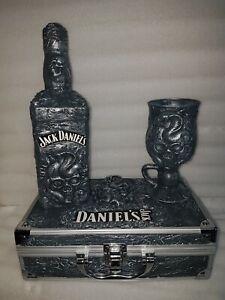 Jack Daniels Geschenkset. 1  Flasche & 1 Glas + 1 Koffer  Unikat. Selfmade