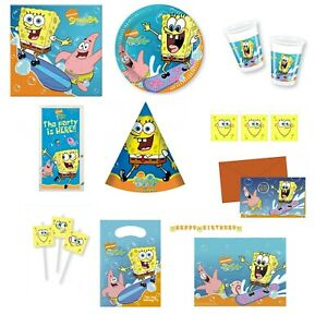 Sponge Bob Square Pants Party Tableware, Decorations and Balloons