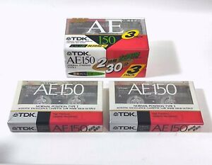【NEW x5-Packs】 TDK AE 150 Extra Long Play Audio Cassette Tape From JAPAN #0413-4