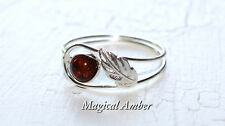 BALTIC AMBER RING WITH STERLING SILVER 925