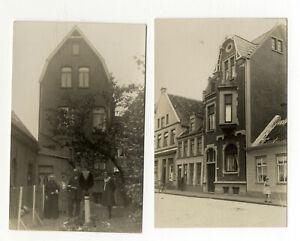 2 x Foto Haan AK Ostfriesland Emden Friedrich Ebertstr. Vorkrieg Porzellan Laden