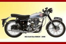 BSA Goldstar 1960  for Garage or Workshop  Steel Enamel Painted Metal Sign