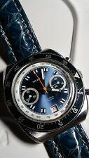 Wakmann Breitling 7734 Valjoux Chronograph Serviced With Crocodile Bracelet