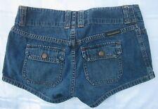 ABERCROMBIE & FITCH BLUE COTTON DENIM SHORT SHORTS Size 0 Hot Pants Medium Wash