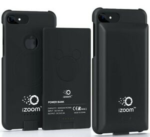 For iPhone 6/6S/7/8 PLUS Black 5.5 in Battery Case Wireless USA SELLER Fast Ship