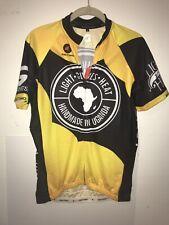 Pactimo Light Gives Heat Cycling Jersey Mens Medium Short Sleeve Yellow/Black