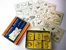 Vintage VOWEL LOTTO 1956 Educational Cards Teaching Phonetics - Learn to Read
