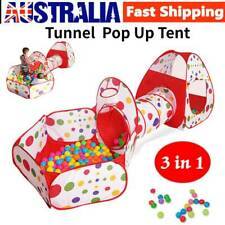 Portable 3 In1 Kids Toddlers Tunnel Play Ball Pool Pop up Tent Playhouse Outdoor