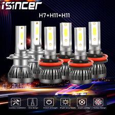Mini H7 H11 H11 Combo LED Headlight Kit  Fog Light Bulb High Low Beam 6000K Lamp