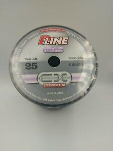 PLine CX Clear Fluorescent 25lb 3000yds Fluorocarbon Coated