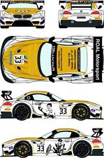 1/24 Decal BMW Z4 GT3 #33 Blancpain Endurance Series - Zolder 2014 for Fujimi