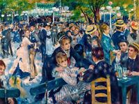 Renoir 1876 Dance at le Moulin de la Galette, Fade Resistant HD Print or Canvas
