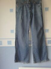 LADIES FLARED JEANS BLUE (DISTRESSED)  SIZE 8 *OASIS*