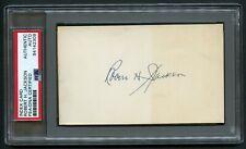 Robert H. Jackson (d. 1954) signed autograph 3x5 card Supreme Court Justice PSA