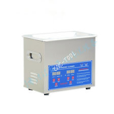 120W PS-20A Digital Ultrasonic Cleaner Stainless Steel with tank 3.2L