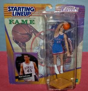 1999 RAEF LAFRENTZ Kansas Jayhawks ncaa Nuggets 1st & only Starting Lineup