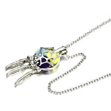 Charm Dream Catcher Cotton Balls Cage Floating Locket Pendant Necklace Gift