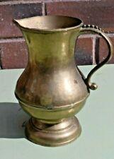 Antique Solid Brass Jug