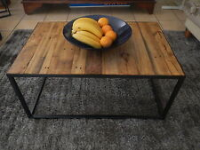 Coffee Table metal and recycled timber