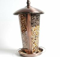 MPE Outdoor Garden Copper Hanging Stand Seeds & Peanuts Wild Bird Feeder Table